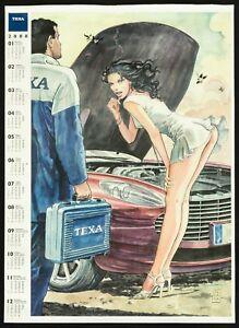 Calendario Meccanici.Dettagli Su Texa Calendario 2008 Manara Poster Manifesto Auto Meccanico Car Mechanic C10