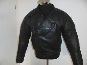 vintage Motorradjacke Leder Bikerjacke 90s Motorrad rocker punk oldschool Gr.54