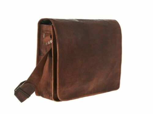 Leather Bag Men/'s Genuine Vintage Brown Messenger Shoulder Laptop bag