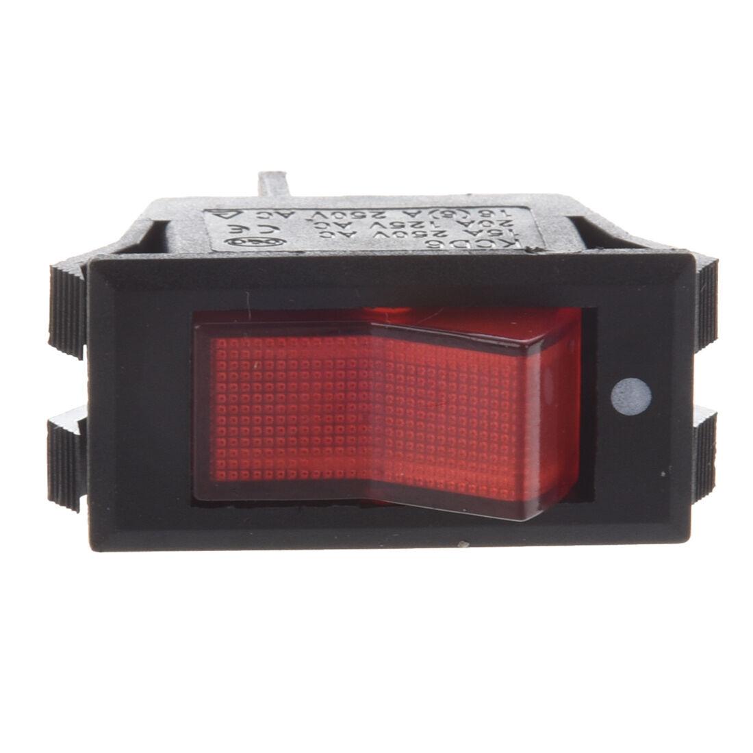 10x Red Neon Light Lamp On Off Spst Boat Rocker Switch 15a 250v 20a Round 3 Prong Blue Led Toggle 12v Ebay Stock Photo