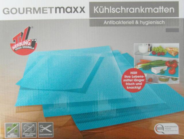 Kühlschrankmatte : Gourmetmaxx kühlschrankmatten er set türkis antibakteriell ebay