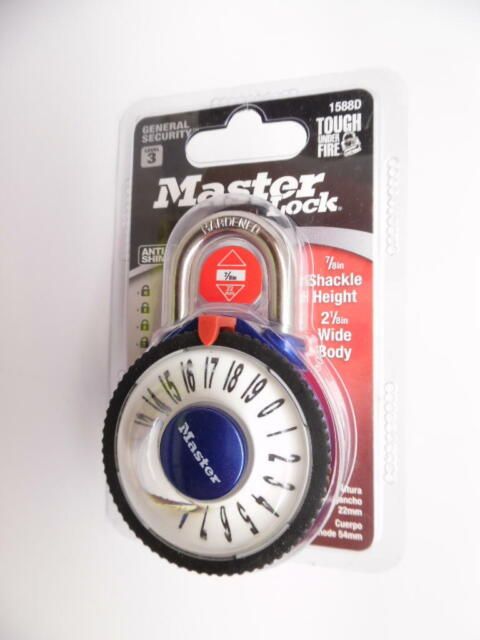 Master Lock Locks Magnified Combination Dial Padlock 1588d 620dast for sale online
