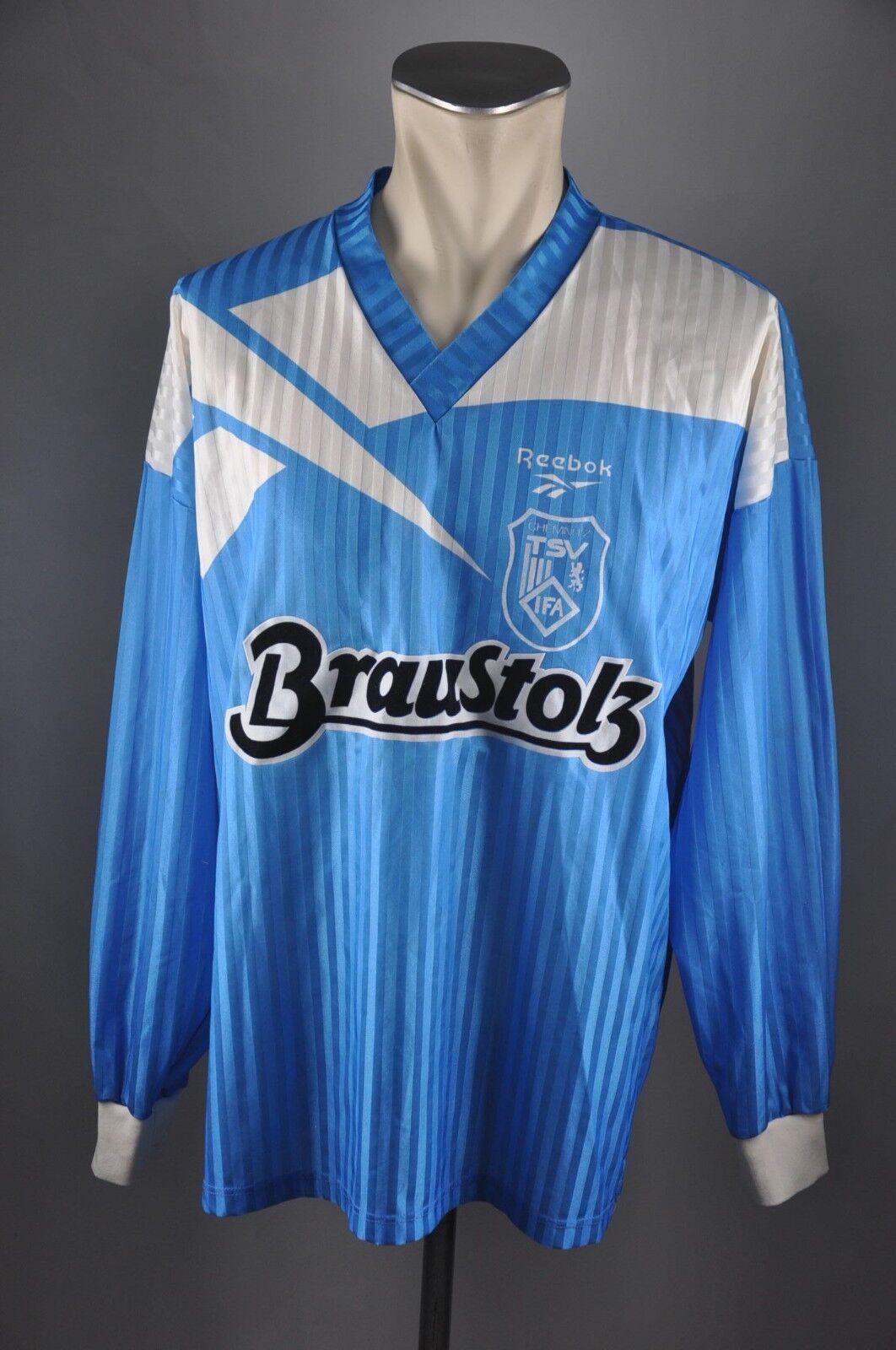 TSV Chemnitz IFA Trikot Gr. L Jersey Reebok 90er blau Braustolz  14 DDR LS