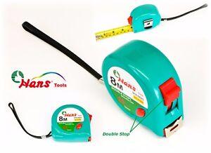 neonfarben Breite 25mm HANSTOOLS Rollbandmaß 8,0m//27FT metrisch und Zoll