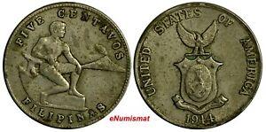 Philippines-U-S-Administration-Copper-Nickel-1944-S-5-Centavos-KM-180a