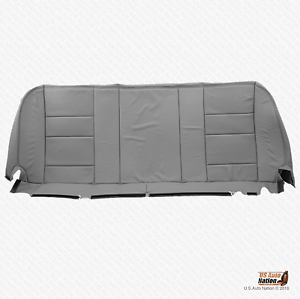 2002 Ford F250 F350 Lariat Bench Bottom Seat Cover Perforated Leather Color Gray Ebay