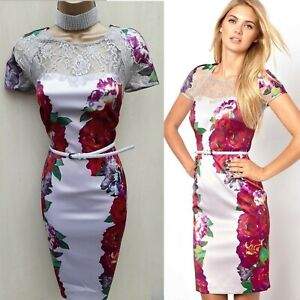 10 Uk Coast Stefana Floral Rose Print Lace Pencil Dress Wedding Guest Occasion Ebay,Wedding Dresses For Short Curvy Brides