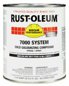RUST-OLEUM 206194T Interior/Exterior Cold Galvanizing Compound, , Gray,1 qt