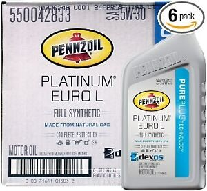 Pennzoil platinum euro l 5w 30 synthetic motor oil for ram for Pennzoil platinum full synthetic motor oil review