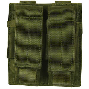 NEW-Military-Style-Tactical-Dual-Pistol-Mag-MOLLE-Pouch-OD-GREEN-OLIVE-DRAB