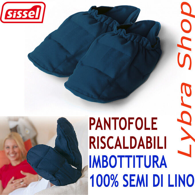 Sissel Blau LINUM slippers Blau Sissel 100% Seeds Linen HEATABLE Relax feet cold food 2bf6fb