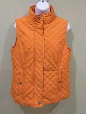 NEW~NINE WEST~Pumpkin Spice Quilt 2-Pocket Vest Jacket Top~Size M
