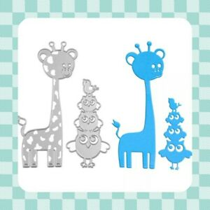 Metal Cutting les-Girafe-Owl-Stencil - Template-Embossing-Crafting