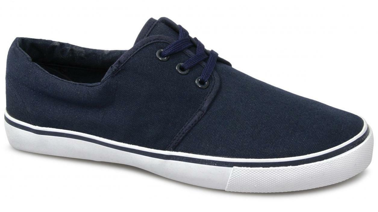 Mirak YACHT Unisex Canvas Lace Deck Boat Casual Shoes Navy Sizes 36 to 46