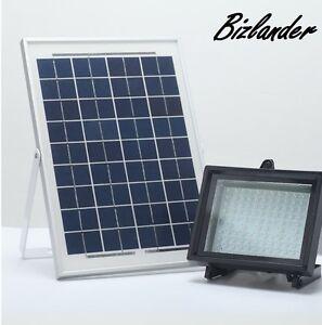 Details About Bizlander 108led Solar Flood Light 1109lm Outdoor Commercial Lighting