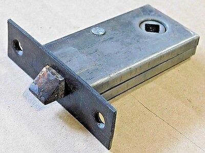 1800s Metal Complete DOOR LOCKSET Copper Black Finish VICTORIAN Style ORIGINAL