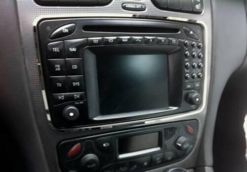 Edelstahl poliert D Mercedes W203 2000-2004 Chrom Rahmen für Radio