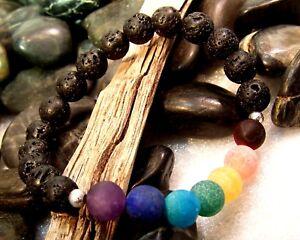 Chakra-Stone-LAVA-Bead-Healing-Grade-A-Meditation-Bracelet-Yoga-Essential-Oil
