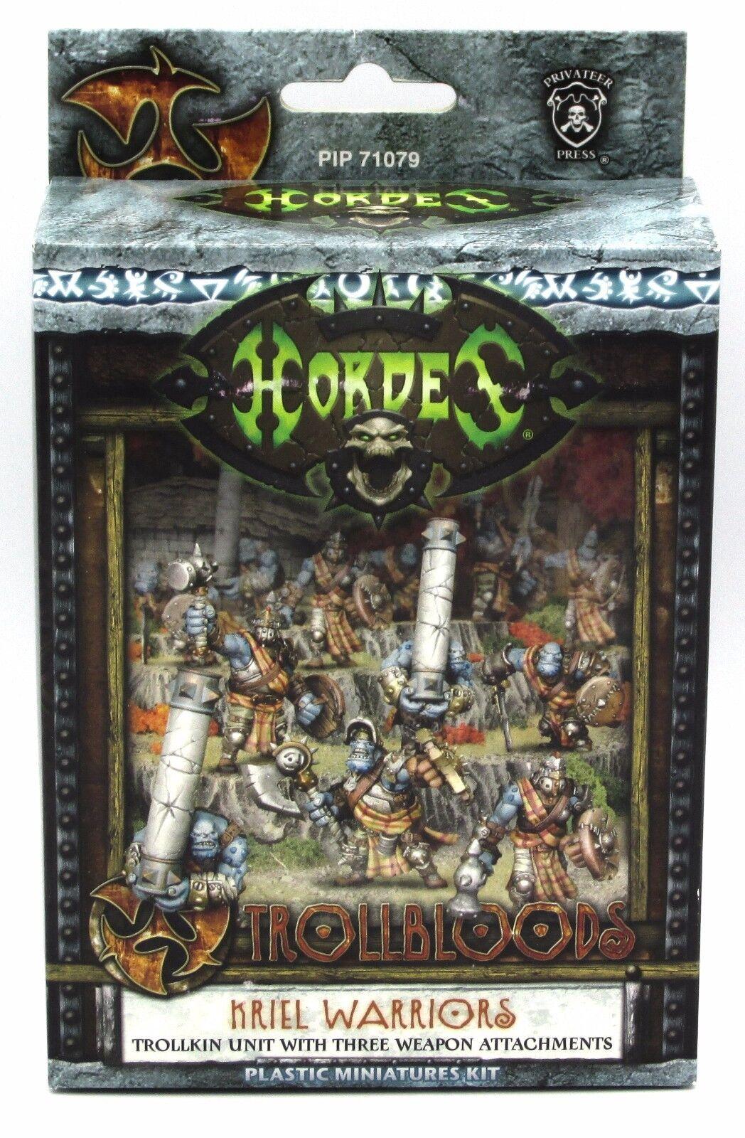 Hordes PIP71079 Trollbloods Kriel Warriors Trollkin Infantry Unit Caber Throwers