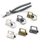25mm 32mm Key Fob Hardware Keychain Wrist Wristlets Bag Split Ring Cotton Strap