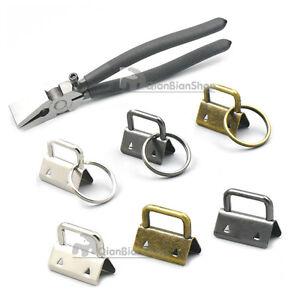 25mm-32mm-Key-Fob-Hardware-Keychain-Wrist-Wristlets-Bag-Split-Ring-Cotton-Strap