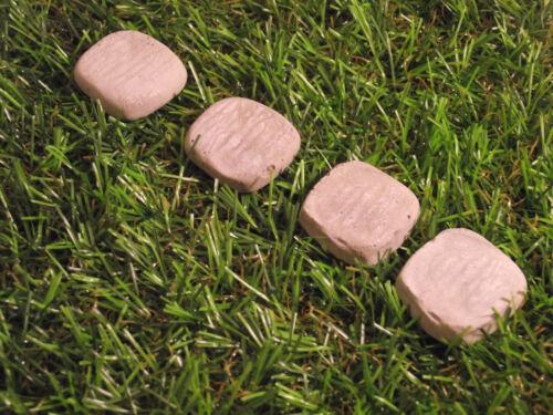 Set di 4 pietra quadrato Fata Stepping Stones-per la tua Fata porta o giardino
