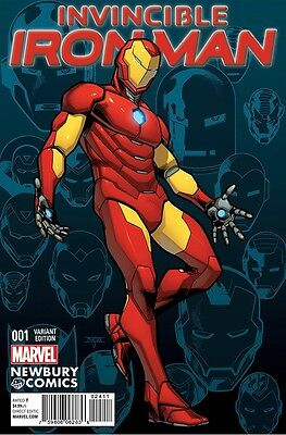 INVINCIBLE IRON MAN 1 V2 RARE DF DYNAMIC FORCES VARIANT WITH COA 2015 SERIES