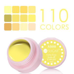 5ml-UR-SUGAR-Soak-Off-Nail-UV-LED-Gel-Polish-Yellow-Color-Coat-Varnish