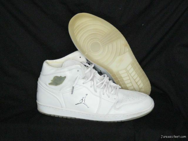 65c40b050759 2002 Nike Air Jordan 1 Retro Sz 15 White Metallic Silver Pre Owned for sale  online