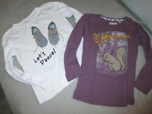 2-T-shirt-fille-MONOPRIX-taille-5-6-ANS