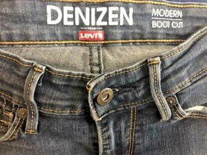 Levi-039-s-Denizen-Womens-Dark-Wash-Modern-Boot-Cut-Stretch-Jeans-Size-2M