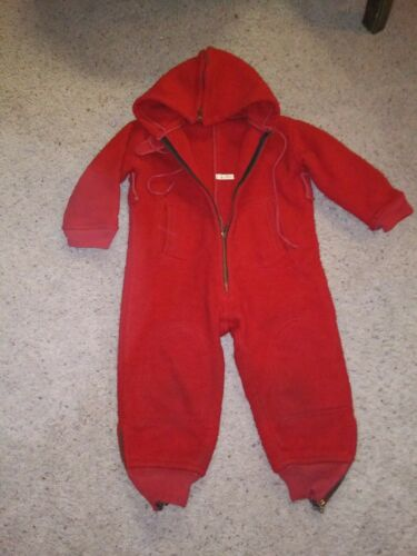 Vintage 1920's 30's Red Wool Child's Snow-Cold Wea