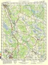 Russian Soviet Military Topographic Map – RAPLA (Estonia), 1:50 000, ed. 1990