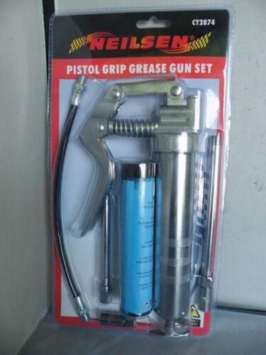 PISTOL GRIP GREASE GUN FLEXIBLE /& RIGID HOSE OR CARTRIDGE BULK FILLCLASSIC CAR