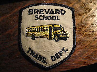 School Bus Driver Patch - Brevard Florida USA Transportation Dept Jacket Badge