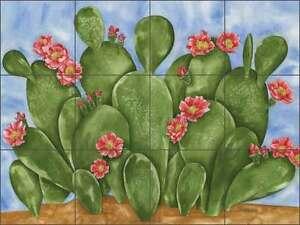 Tile-Mural-Backsplash-Ceramic-Mullen-Southwest-Cactus-Floral-Art-SM064