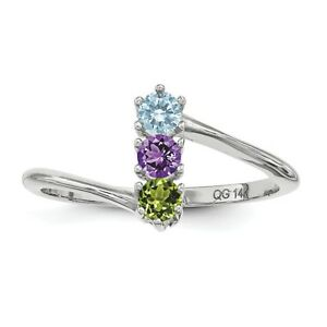 293d1fde7bce4 Custom Birthstone Ring 1- 4 Stones Sterling Silver, Mother's Day ...