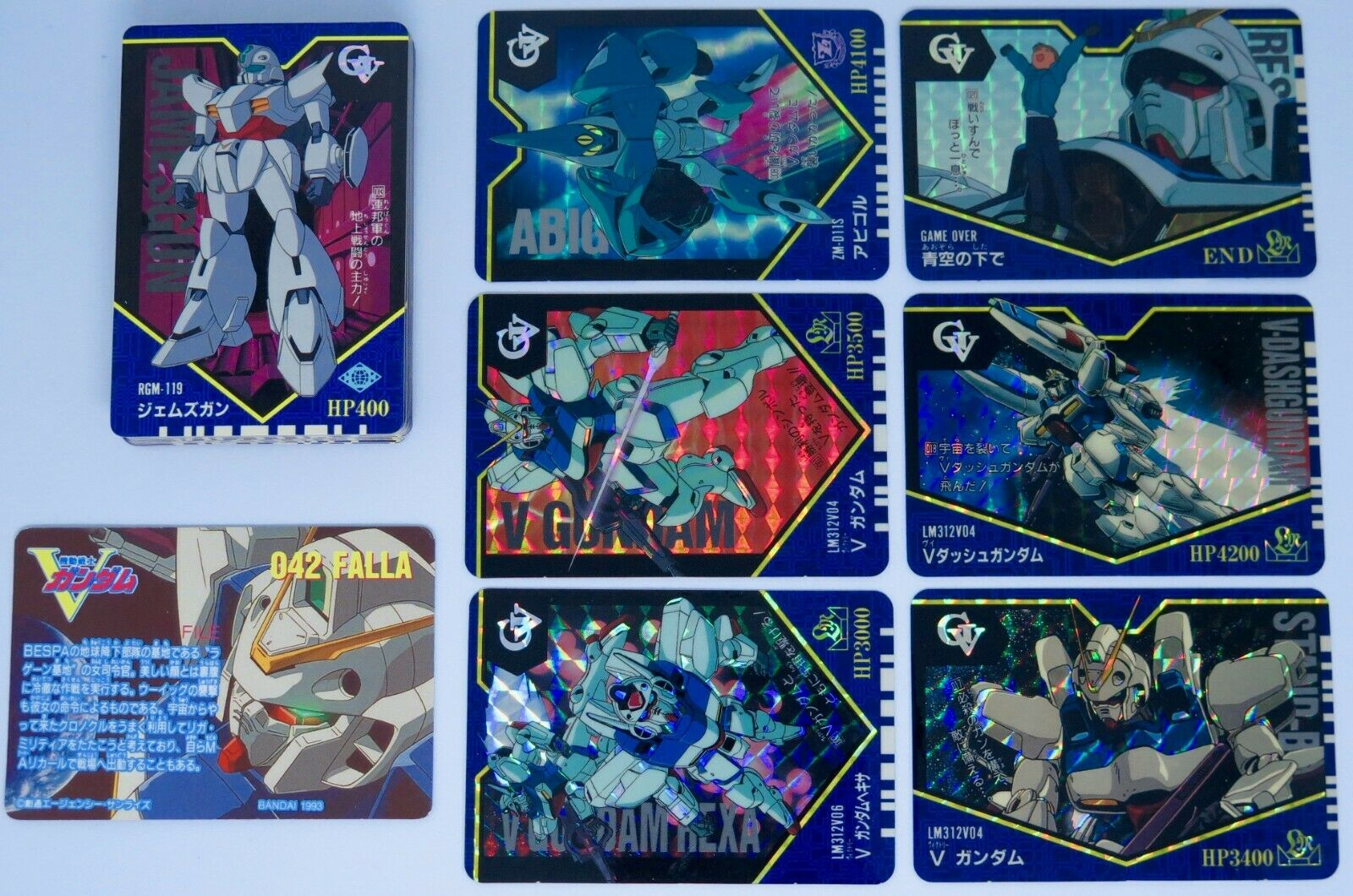V Gundam Victory CARDDASS PART.1 Movic Mobile Suit Full Set