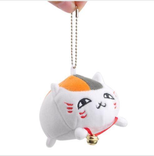 Japan Nyanko Sensei Neko Cat Super Soft Mochi Plush Kawaii Cute Charm Keychain