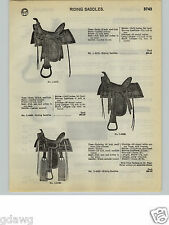 1932 PAPER AD 2 PG Leather Horse Saddles Western Made In St. Paul Minnesota