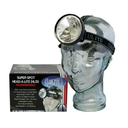 Clulite Super Spot tête-a-Lite Reachargeable Head Light