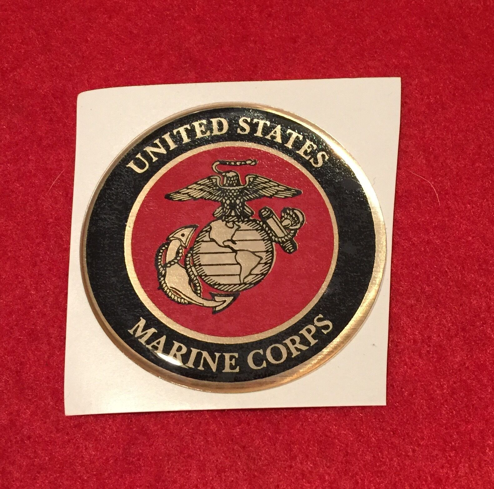 USMC Marines RB Premium Glossy Round 3D Epoxy Domed Decal Indoor /& Outdoor Use