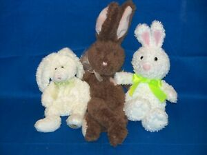 Plush Easter lot Bunny Rabbit Ty Beanie Babies Hoppily Hallmark I Love You