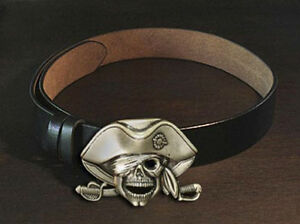 Black-Leather-Belt-and-Pirate-Captain-Skull-Buckle