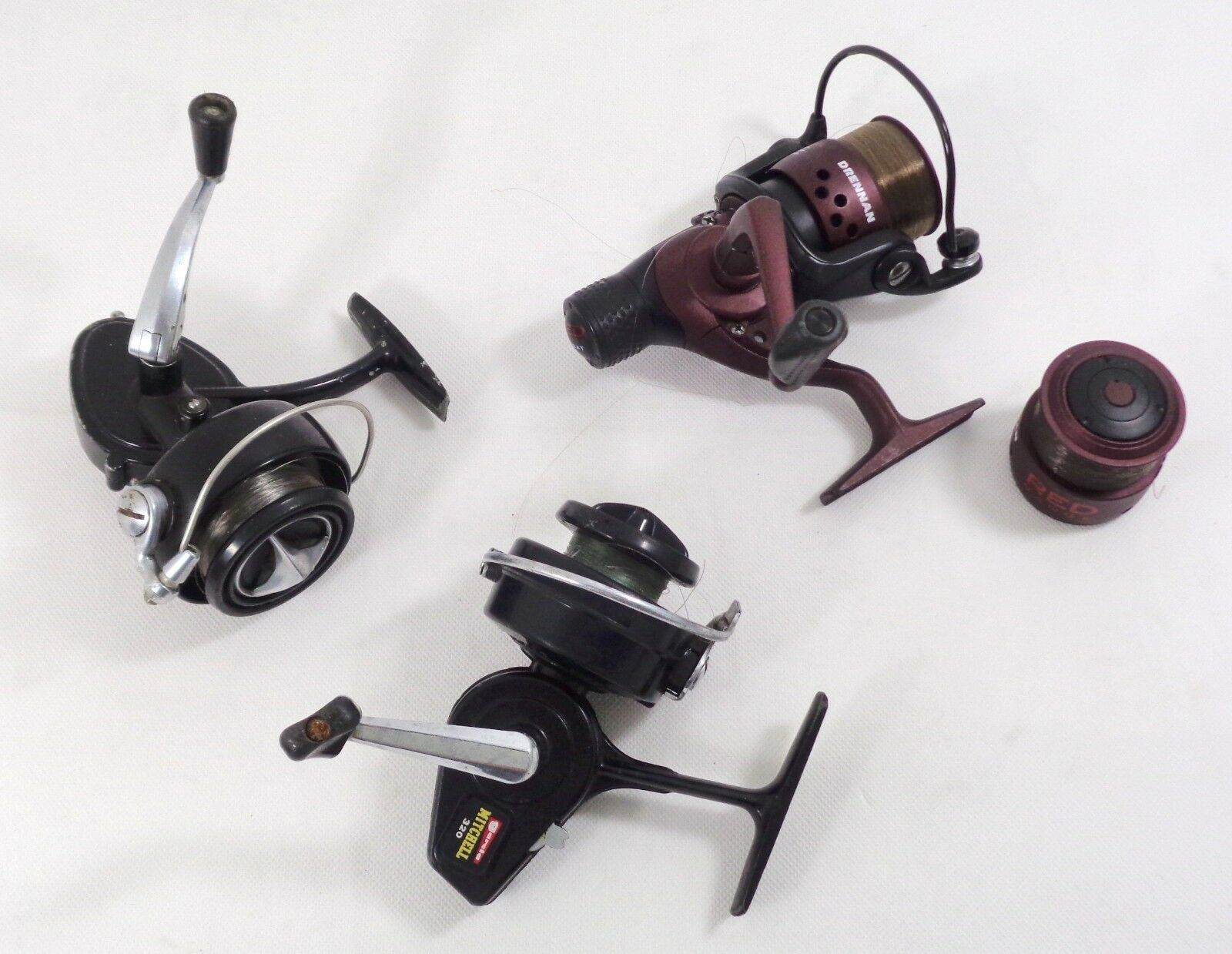 Bundle  of 3 Fishing Reel Drennan Red Range, Mitchell 320, KP Morritt's Elite  welcome to buy