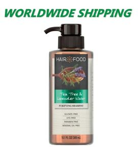 Hair Food Tea Tree & Lavender Water Purifying Shampoo 10.1 Fl Oz WORLD SHIPPING
