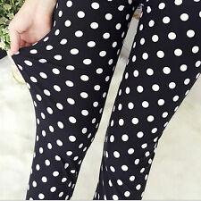 Black & White Polka Dots Extra Suave Leggings - 8 - 12 Reino Unido, 80s Pop punteada Yoga