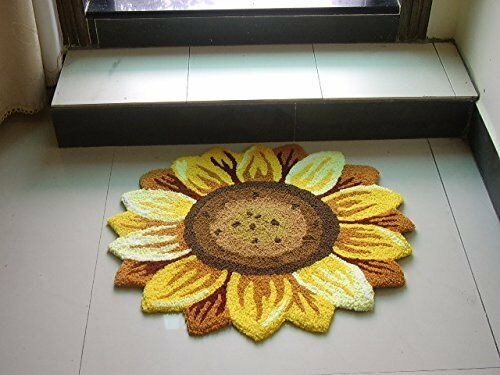 Sunflower Under Sunlight Nature Scenery Rug Carpet Bedroom Bathroom Mat Doormat