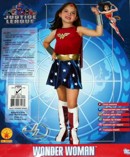 WONDER WOMAN DC Comics Justice League Superhero GIRLS COSTUME CHILD SIZE S M L