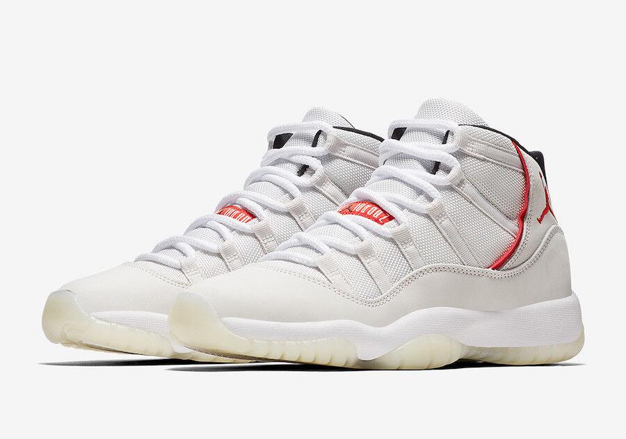Mens Brand New Air Jordan 11 Retro  Platinum Tint  Fashion Sneakers [378037 016]